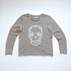 Zadig & Voltaire Cashmere/Cotton Skull Swe…